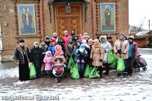 Очередная помощь от Бердянской епархии вынужденным переселенцам из зоны военных действий