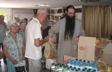 КИЕВСКАЯ ЕПАРХИЯ. Продуктовая помощь неимущим в галерее «Соборная»