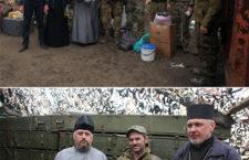 ЧЕРКАСЬКА ЄПАРХІЯ. Священики-волонтери із Городища відвідали українських воїнів у зоні бойових дій